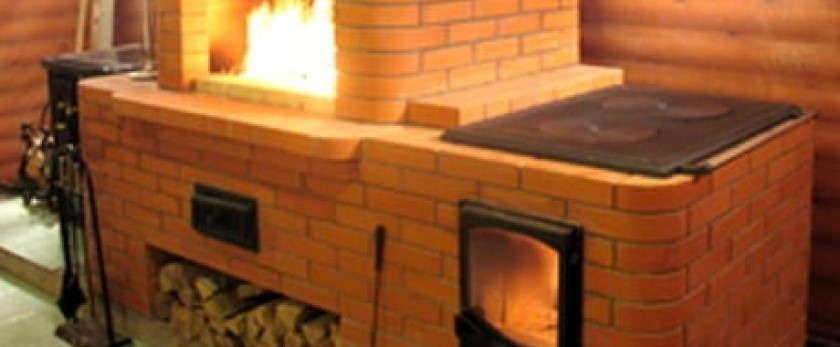 Что собой представляет кирпичная отопительно-варочная печь и как она устроена