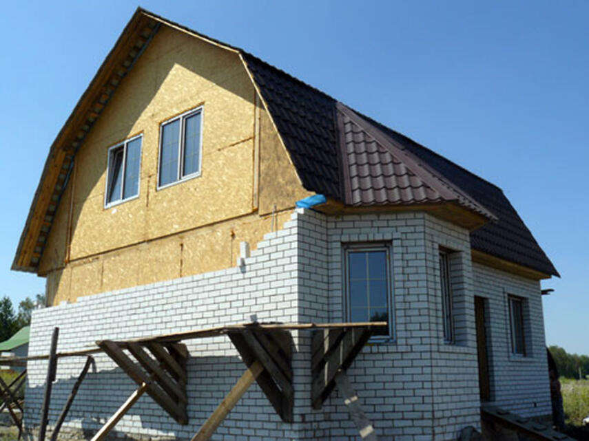 Как дом из СИП-панелей обложить кирпичом - обязательные материалы, инструкция, советы каменщиков