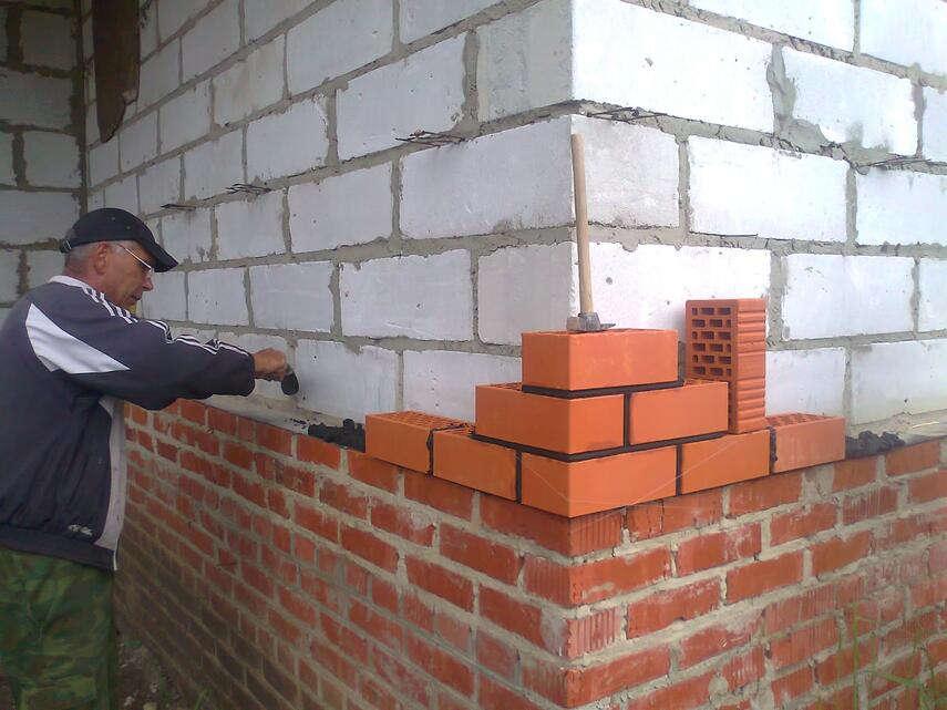 Облицовка дома кирпичом - как рассчитать сколько нужно материала, инструкция, советы каменщиков