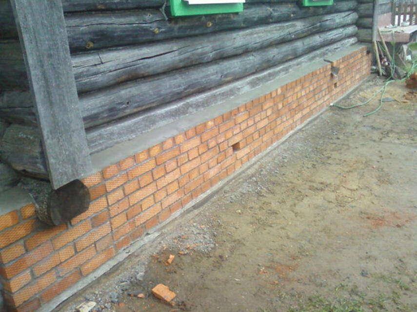 Кирпичный фундамент для деревянного дома - виды, инструкция, советы каменщиков