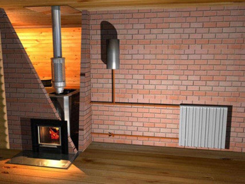 Отопление в доме из кирпича - воздушное, радиаторное, инструкция, советы каменщиков