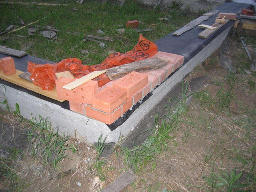 Как вывести ноль кирпичом на фундаменте - способы, инструкция, советы каменщиков