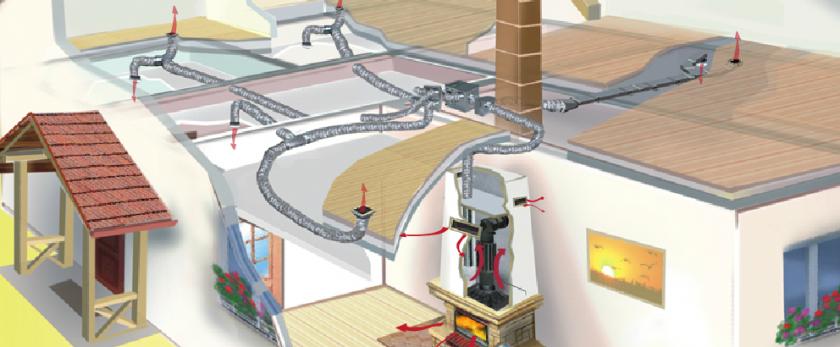 Как сделать воздушное отопление в частном доме
