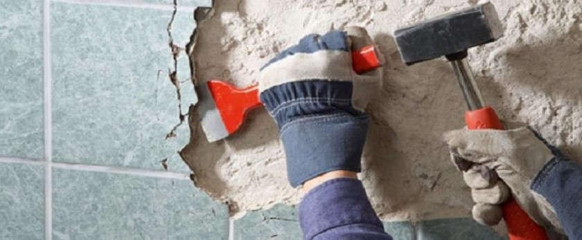 Как снять плитку со стены
