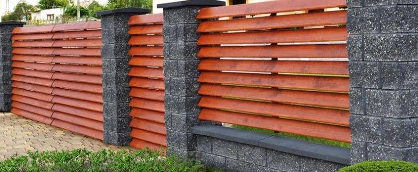 Деревянный забор своими руками: фото примеров и схемы