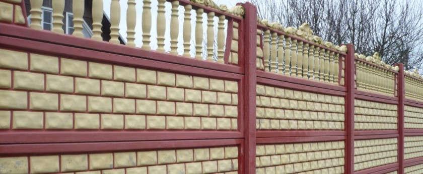 Забор бетонный секционный: размеры секций и монтаж