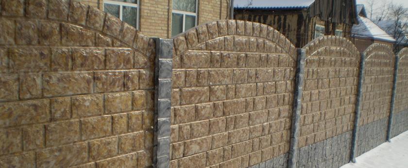 Забор из бетонных панелей своими руками