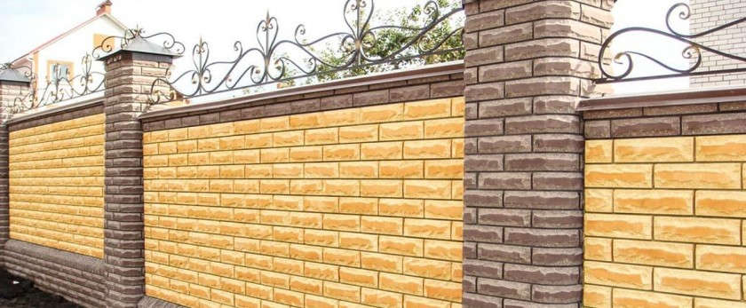 Забор из блоков бессера