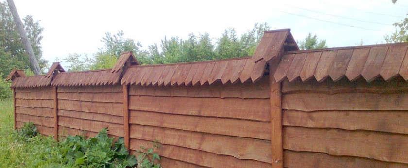 Забор из горбыля своими руками: советы, фото и видео