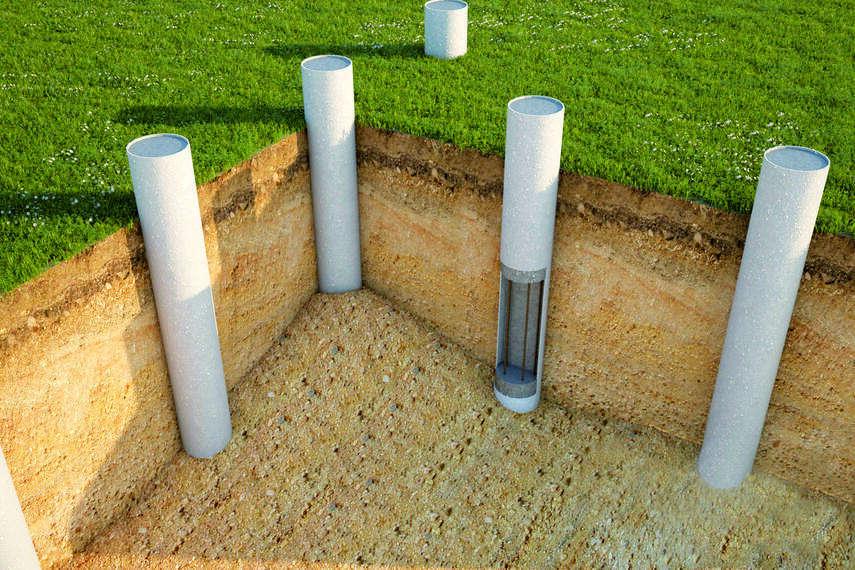 Как закрыть столбчатый фундамент частного дома: забирки, сайдинг, натуральный камень