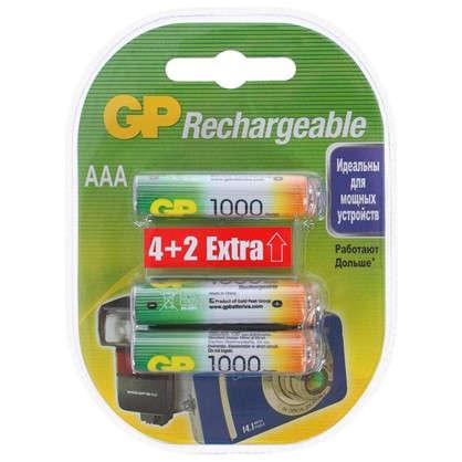 Купить Аккумулятор GP Ni-Mh 100 AAA HC 4/2 6 шт. дешевле