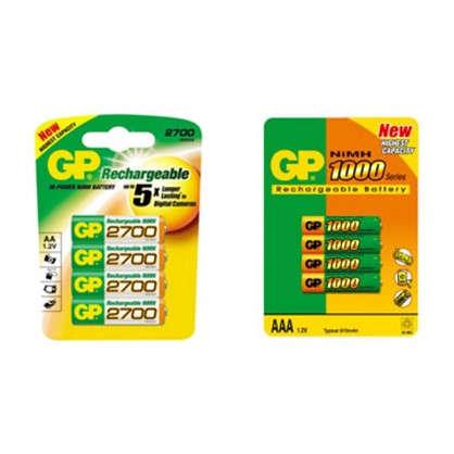 Аккумулятор GP Ni-Mh: 270 AA HC + 100 AAA HC 8 шт.