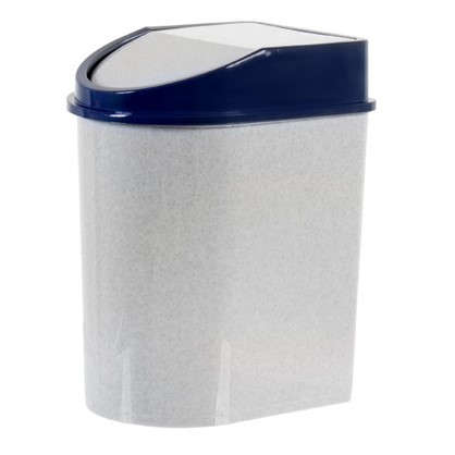 Бак для мусора 8 л цвет белый/синий