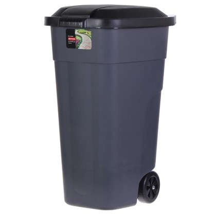 Бак для мусора на колёсах с крышкой 110 л