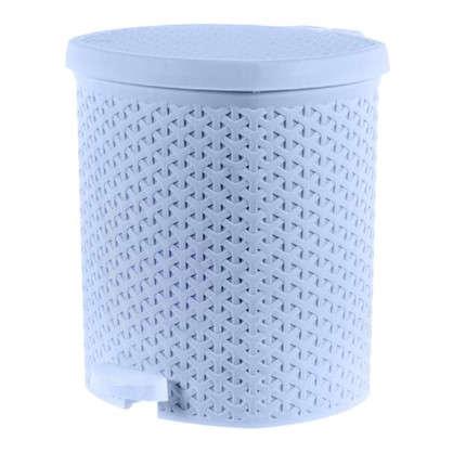 Бак для мусора Плетёнка 12 л цвет белый