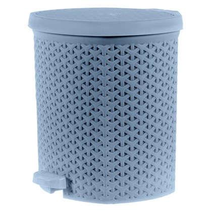 Бак для мусора Плетёнка 12 л цвет бежеый