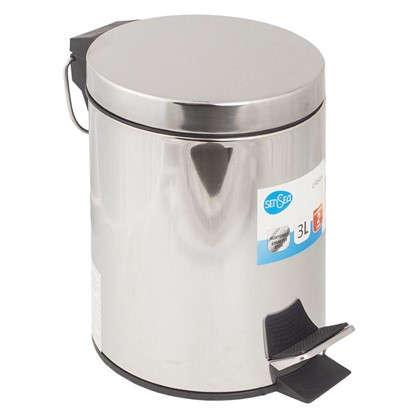 Купить Бак для мусора Sensea 3 л цвет хром дешевле