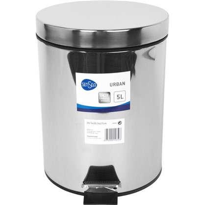 Купить Бак для мусора Sensea 5 л цвет хром дешевле