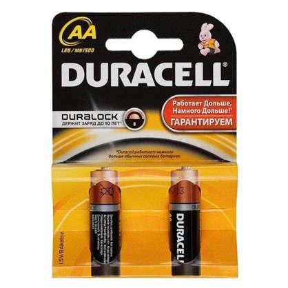 Купить Батарейка алкалиновая Duracell Basic АА 2шт. дешевле