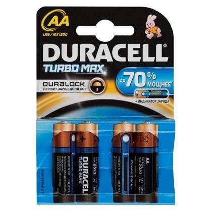 Купить Батарейка алкалиновая Duracell TurboMax АА 4 шт. дешевле