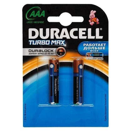 Батарейка алкалиновая Duracell TurboMax ААА 2 шт.