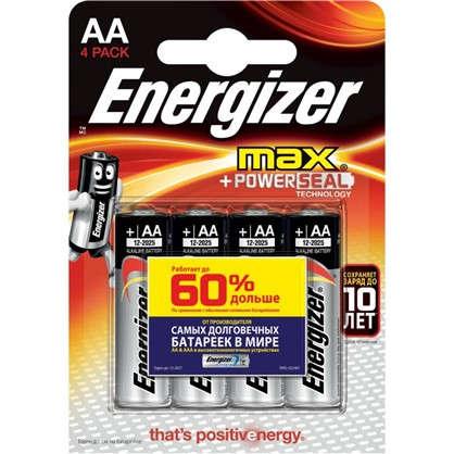 Купить Батарейка алкалиновая Energizer MAX AA 4 шт. дешевле