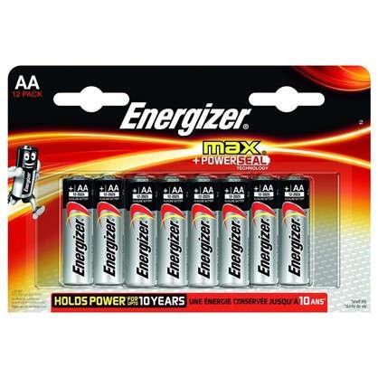 Купить Батарейка алкалиновая Energizer Max AA/LR6 FSB 12 шт. дешевле
