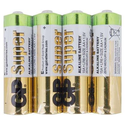Батарейка алкалиновая GP 15A AA 4 шт.