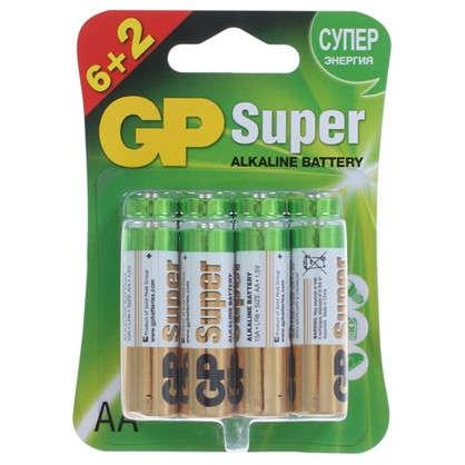 Купить Батарейка алкалиновая GP AA 15A6/2 8 шт. дешевле