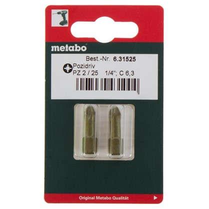 Биты Metabo PZ2 25 мм 2 шт.