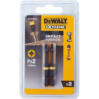 Купить Биты ударные Dewalt PZ2x50 мм 2 шт. дешевле