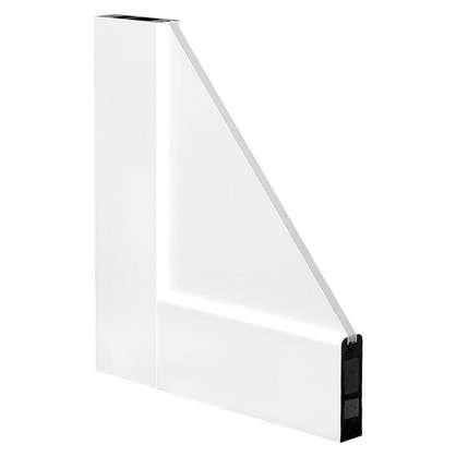 Блок дверной остеклённый Акваплюс 80x200 см ПВХ с фурнитурой