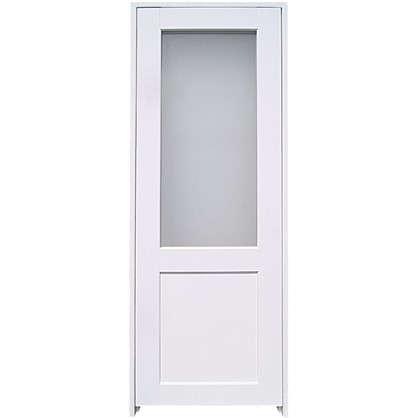 Купить Блок дверной остеклённый Акваплюс 90x200 см ПВХ с фурнитурой дешевле