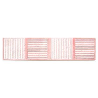 Бордюр Агата В 25х6.5 см цвет розовый