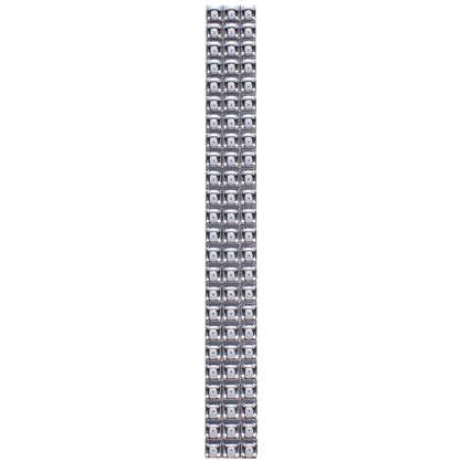 Бордюр Бусинки 10х250 мм цвет платиновый