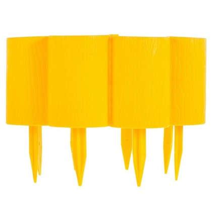 Купить Бордюр декоративный Пеньки цвет жёлтый дешевле