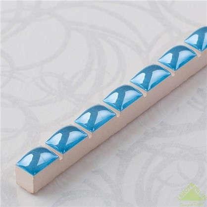 Бордюр Капсула люстрированная 7х250 мм цвет синий