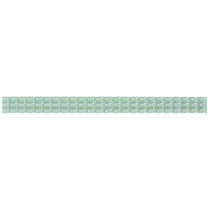Бордюр Капсула люстрированный фриз 7х250 мм цвет зелёный