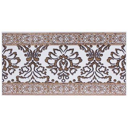 Бордюр Катар 13x25 см цвет белый