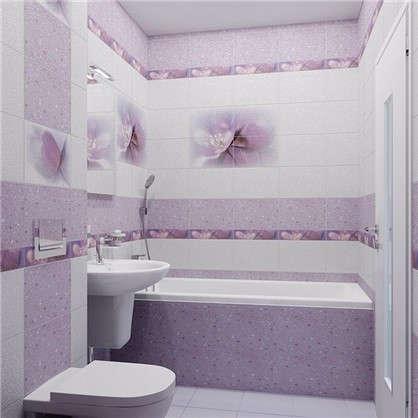 Бордюр Лила БД45ЛЛ303 36.4х8 см цвет фиолетовый