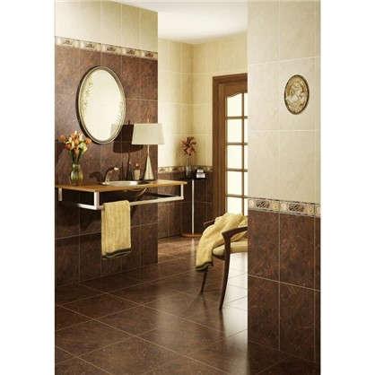 Бордюр Pietra 40x11 см цвет коричневый