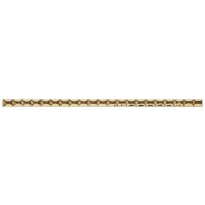 Бордюр Ребристый 10х250 мм цвет золотой