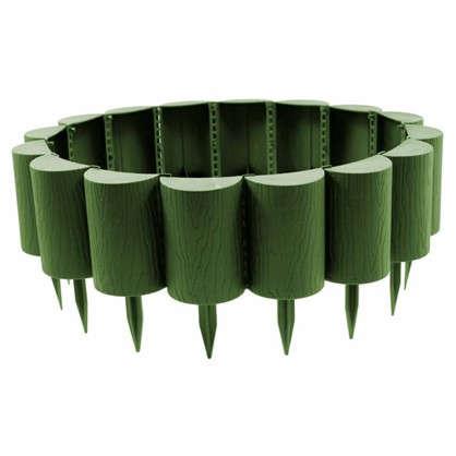 Купить Бордюр садовый декоративный Пеньки 15x160 см цвет хаки дешевле