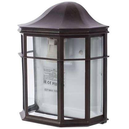 Купить Бра Florac 1xE27х100 Вт стекло цвет черный дешевле