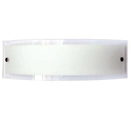 Купить Бра Maxel Консул 2xE27x40 Вт 40x12 см металл/стекло цвет хром/белый дешевле