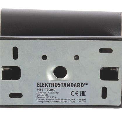 Купить Бра уличное Elektrostandard Techno 1483 2хE27 IP54 цвет черный дешевле
