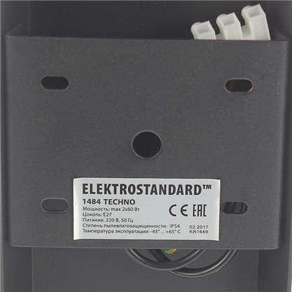 Бра уличное Elektrostandard Techno 1484 2хE27 IP54 цвет черный
