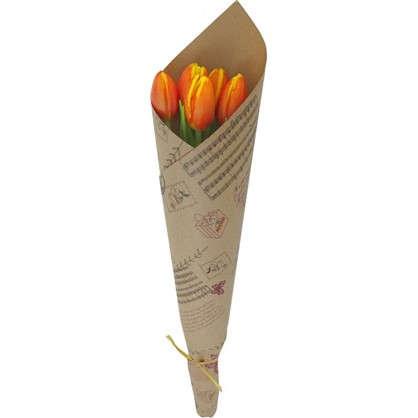 Купить Букет тюльпанов 30 см 5 шт. дешевле