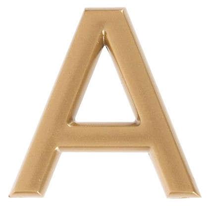 Купить Буква А Larvij самоклеящаяся 40x32 мм пластик цвет матовое золото дешевле