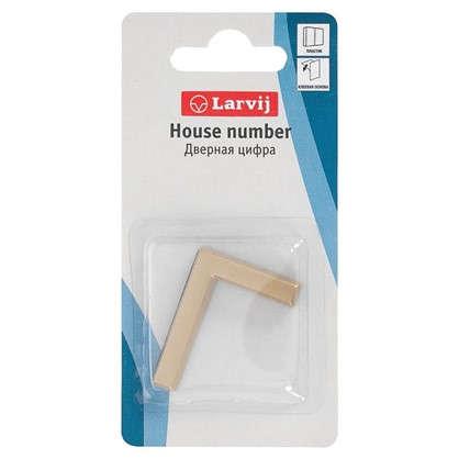 Буква Г Larvij самоклеящаяся 40x32 мм пластик цвет матовое золото